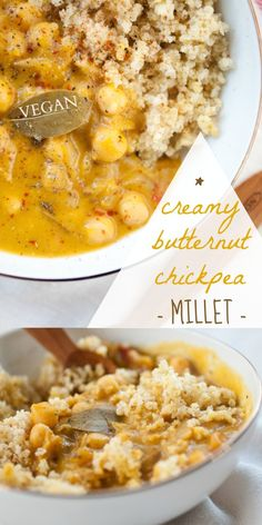 Creamy Butternut Chickpea Millet - Produce on Parade