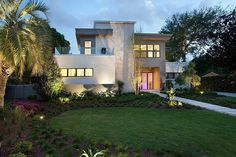 Miwa Residence with clean design lines, Winter Park, Florida by Phil Kean Design Group.