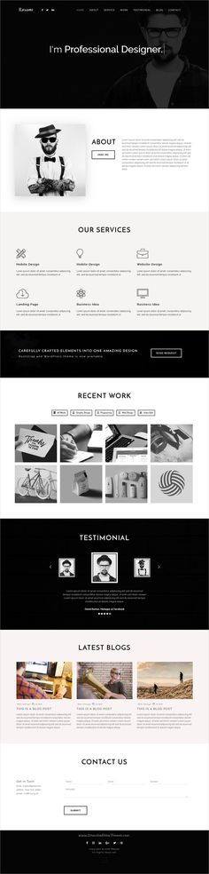 Resme - Responsive Personal Portfolio   Resume   CV   vCard - personal resume websites