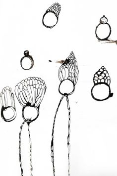 Jewellery Sketchbook - jewelry design drawings; ring sketches; the creative design process // Katherine Wheeler