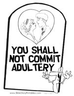 NInth Commandment Coloring Page | 2016 Discipleland | Ten ...