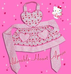 Toddler Apron, Kids Apron, Sewing For Kids, Baby Sewing, Sewing Crafts, Sewing Projects, Baby Born Clothes, Hello Kitty Characters, Childrens Aprons