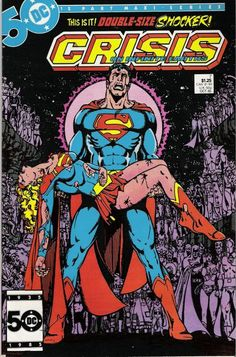 Crisis on Infinite Earths #7-one of the greatest comic book covers and ever