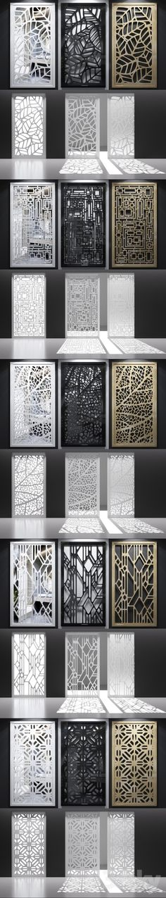 Set of decorative panels decorative panel grille pattern mirror screen partition carved набор декоративных панелей декоративная панель решетка узор зеркало ширма перегородка резная