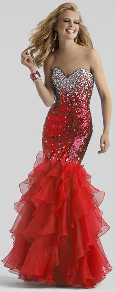 Mermaid Prom Dress by Clarisse