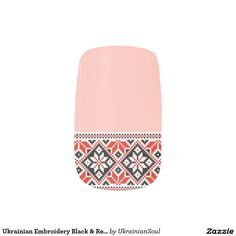 Get yourself some fun nail art from Zazzle! Check out our unique assortment of nail wraps right now! Minx Nails, Nail Wraps, Cool Nail Art, Embroidery, Floral, Fabric, Prints, Red, Color