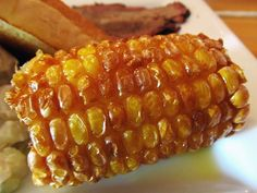 Fried Corn on the Cob - Deep fry frozen corn on the cob until golden brown, then top with butter. We had this on vacation, and it was amazing! Fried Corn On The Cob Recipe, Starting A Food Truck, State Fair Food, Carnival Food, Vegan Recipes, Cooking Recipes, Battered And Fried, Good Food, Yummy Food
