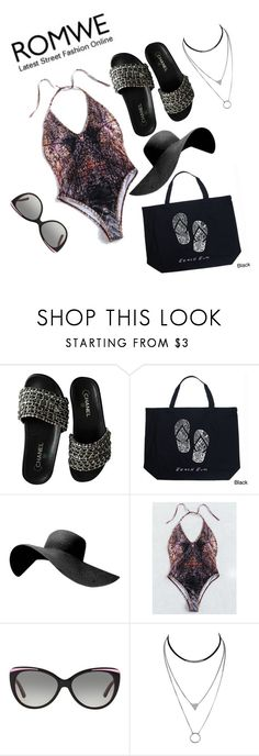 """""""Shaded"""" by loveisablindwar ❤ liked on Polyvore featuring Chanel, Los Angeles Pop Art and DKNY"""