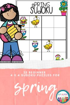 Are you looking for a fun activity for spring that keeps students engaged, learning and on-task? These beginner (PICTURE) Spring Sudoku puzzles are perfect to activate a student's logic and reasoning skills! Math Center Rotations, Math Centers, Phonics Activities, Math Games, Math Talk, Framed Words, Spring School, Sudoku Puzzles, Math Graphic Organizers