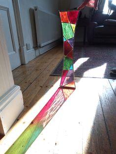 SpiroGlass - Stained Glass Garden Art #Harlequinn Just needs it frame!