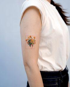 ✔ Tattoo Back Of Arm Sunflower Sunflower tattoo – Fashion Tattoos Hand Tattoos, Body Art Tattoos, Sleeve Tattoos, Tatoos, Tattoo Drawings, Tattoo Sketches, Faith Tattoos, Owl Tattoos, Anchor Tattoos