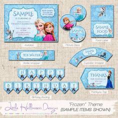 FROZEN Themed Party Printable Package - PDF on Etsy, $25.00 AUD