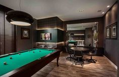 Diversão e décor: 5 dicas para criar uma sala de jogos perfeita em casa - Follow the Colours Home Theater Rooms, Billiard Room, Man Cave, Living Room Decor, Sweet Home, New Homes, Design, Home Decor, Game Rooms