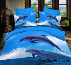 #dolphin #3d Dolphins Jumping out of Blue Water 3D Bedding Sets  Buy link-->http://goo.gl/LBfUTy Discover more-->http://goo.gl/R7QpMq Live a better life,start with @beddinginn http://www.beddinginn.com/product/Dolphins-Jumping-out-of-Blue-Water-Print-Polyester-3D-Bedding-Sets-10938041.html
