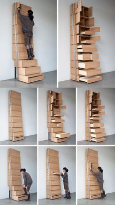 Vertical Staircase Shelf by Danny Kuo