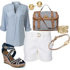 Love this - very fresh.  sail away., created by beckyking on Polyvore