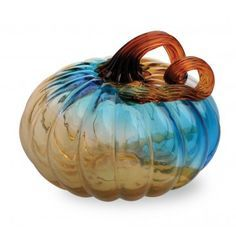 Wayfair.com has a lot of glass pumpkins at reasonable prices