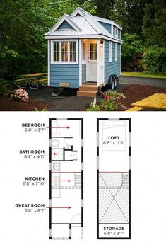 The Cypress is Tumbleweed's most popular model. These tiny house plans include… The Cypress is Tumbleweed's most popular model. These tiny house plans include over. Plan Tiny House, Tiny House Living, Tiny House On Wheels, Small House Plans, Tiny House Trailer Plans, Micro House Plans, Tiny House Exterior Wheels, Tiny Home Floor Plans, Tyni House