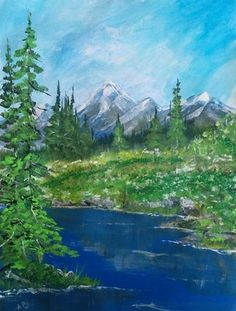 Portfolio Gallery for Al Budarin Portfolio Images, Impressionist Paintings, Canadian Rockies, Tag Art, Rocky Mountains, Watercolor Art, Places To Visit, Backyard, Waterfalls