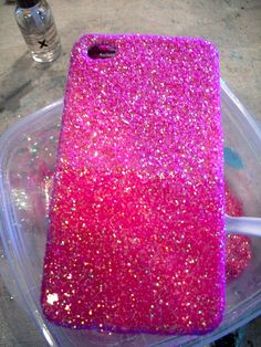 DIY Glitter iPhone Case- excited to try this