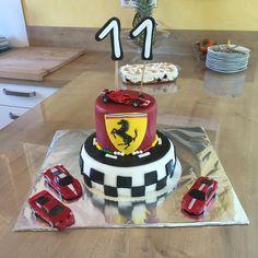Ferrari Torte   Ferrari cake Fondant Ferrari Cake, Cake Fondant, Birthday Cake, Desserts, Food, Pies, Recipies, Tailgate Desserts, Deserts