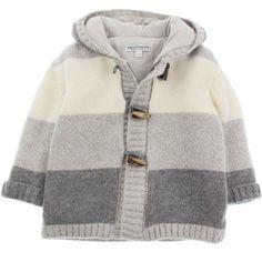 Baby Graziella Boys Grey Wool Stripe Duffle Cardigan [] #<br/> # #Baby #Knitting,<br/> # #Baby #Knits,<br/> # #Cardigans,<br/> # #Layette,<br/> # #Bulletproof #Vest,<br/> # #Knitting,<br/> # #Tissue,<br/> # #Jacket<br/>