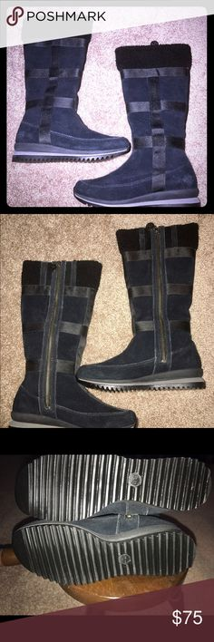 TALL TIMS! BLACK SUEDE! NEW CONDITION!(6M) SUPER CUTE!  MINT CONDITION! REASONABLY PRICES! PRICED TO SELL! Timberland Shoes Winter & Rain Boots