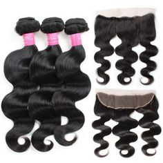 【Bundles With Frontal】Mink Hair Grade Virgin Brazilian Body Wave Hair Bundles Deals With Ear to Eatr Full Lace Frontal Closure 3 Bundles Unprocessed Brazilian Body Wave Remy Hair Products With full lace frontal closure Body Wave Weave, Body Wave Hair, Frontal Hairstyles, Loose Hairstyles, Brazilian Body Wave, Brazilian Weave, Best Weave Hair, Full Lace Frontal, Hair Bundle Deals