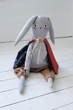 @littlefacesapparel pin. Aiden the Bunny