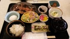An example of Japanese breakfast. Japansk morgenmad