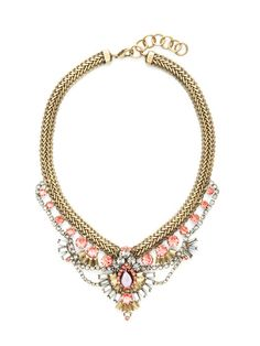 Orange, Purple, & Grey Crystal Tiffany Necklace by Elizabeth Cole on Gilt.com