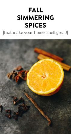 Want your house to smell amazing all season long? Throw on a pot of these Fall Simmering Spices and all your neighbors will come running over to see whats cooking! All you need are some orange peels, vanilla beans and cinnamon sticks!
