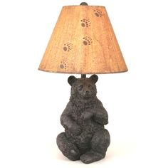 The Sitting Black Bear Lamp From Coast Lamp Mfg Makes A Rustic Addition To  Your Cabin