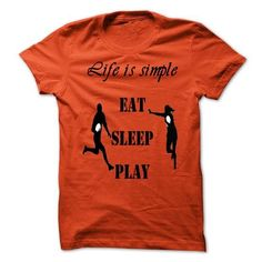 Awesome Football Lovers Tee Shirts Gift for you or your family member and your friend:  LIFE IS SIMPLE RUGBY Tee Shirts T-Shirts