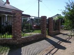 wrought iron brick pillars gates and fencing angelos lawn scape