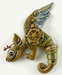 Steampunk and polimer clay :D