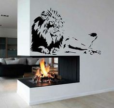 Lion decal....somehow I could incorporate this into my home...