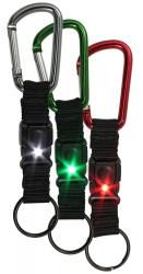 QUICK CLIP BUKaLITE™ |  Red or White Lights Light where you need it! Clip it anywhere for convenience Key ring release Steady light for tasks / Flashing light for alerts 2- CR1220 lithium batteries Patent # 8,863,362