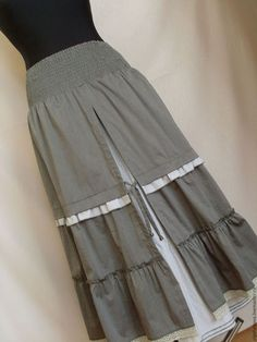 Юбки ручной работы. Ярмарка Мастеров - ручная работа. Купить юбка бохо беж. Handmade. Бежевый, деревенский стиль