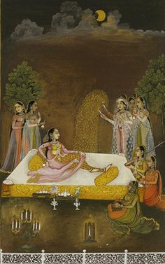 A painting of a princess observing fireworks in the Moonlight. Mughal Miniature Paintings, Mughal Paintings, Indian Paintings, Indian Traditional Paintings, India Art, Ancient Civilizations, Aesthetic Art, Art And Architecture, Fireworks