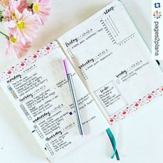 Bullet Journal Dailies are the cornerstone of the bullet journal system. Not sure how to get started? Check out more than 20 of my favorite bujo dailies. Bullet Journal Designs, Planner Bullet Journal, Bullet Journal Weekly Layout, Organization Bullet Journal, Bullet Journal Junkies, Bullet Journal Spread, My Journal, Bullet Journal Inspiration, Journal Pages