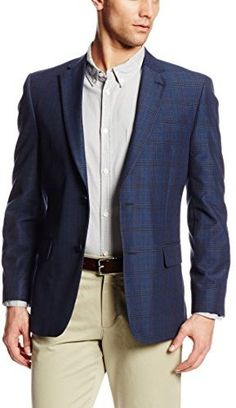 4e40f34dc8a22 Tommy Hilfiger Men s Ethan Two-Button Side-Vent Plaid Sportcoat