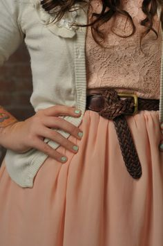cute outfit/seafoam green nails finishes it off. =)