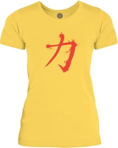 Big Texas Strength Chinese Symbol (Red) Womens Fine Jersey T-Shirt