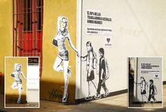 Campaña publicitaria hace uso del #StreetArt para hacer un llamado de los derechos de sexoservidoras en #Argentina pic.twitter.com/WwZhlInWHv