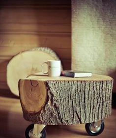 massivholz massivmöbel design kaffeetisch rollen