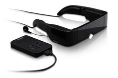 High-Tech glasses with movie projector