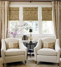 New Ideas Living Room Design with texture of bamboo shades