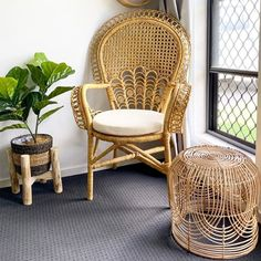 If you are still waiting for the Target Rattan side table to come into stock I may have found the perfect alternate Natalie Williams, Boho Style Decor, Rattan Side Table, Interior Styling, Interior Design, Still Waiting, Girl House, Wicker, Sweet Home