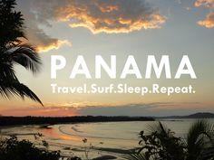 Sunrise in the Surf Paradise Santa Catalina in Panama